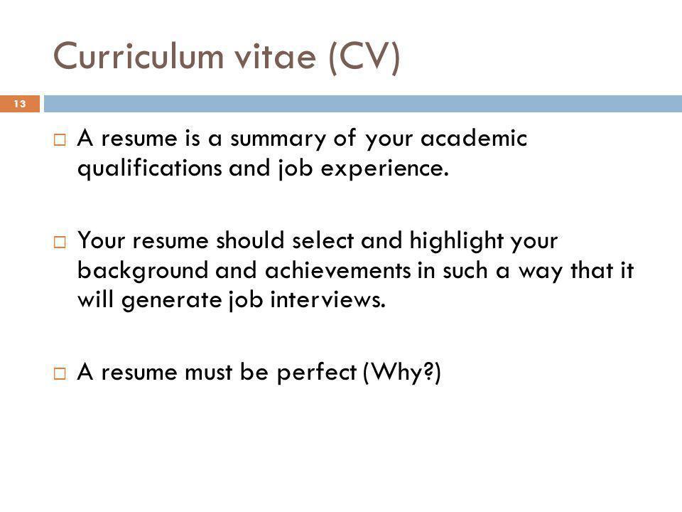 job experience in cv radiovkm