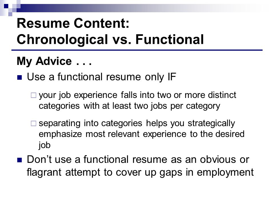 when to use a functional resume resume ideas