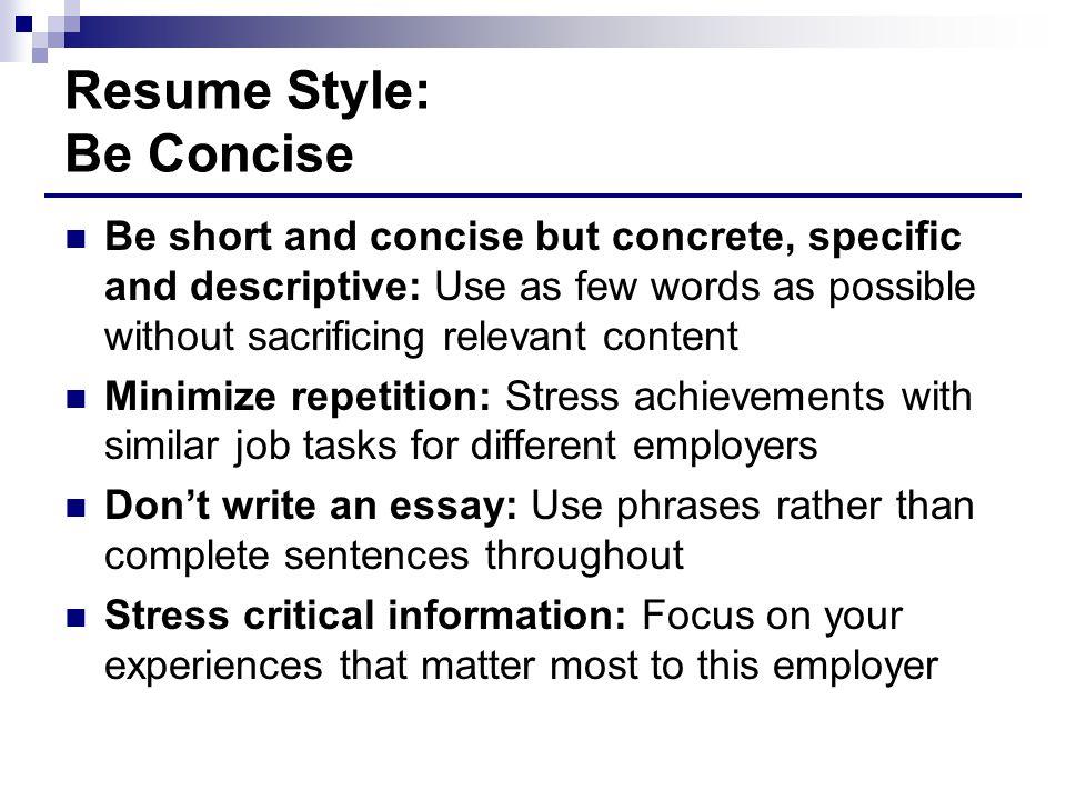 descriptive resume
