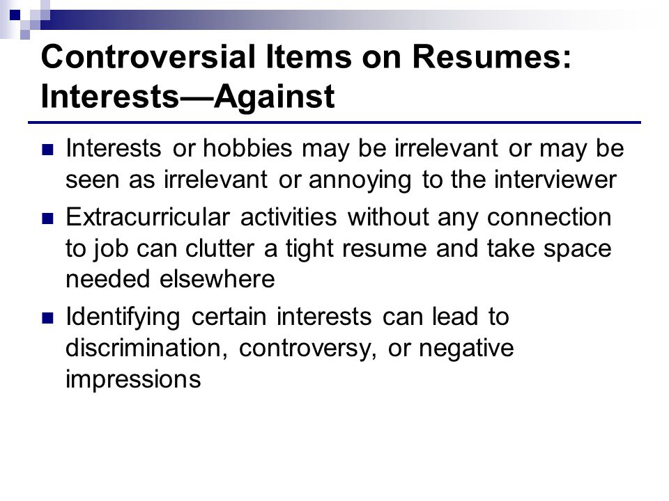 interests for resumes