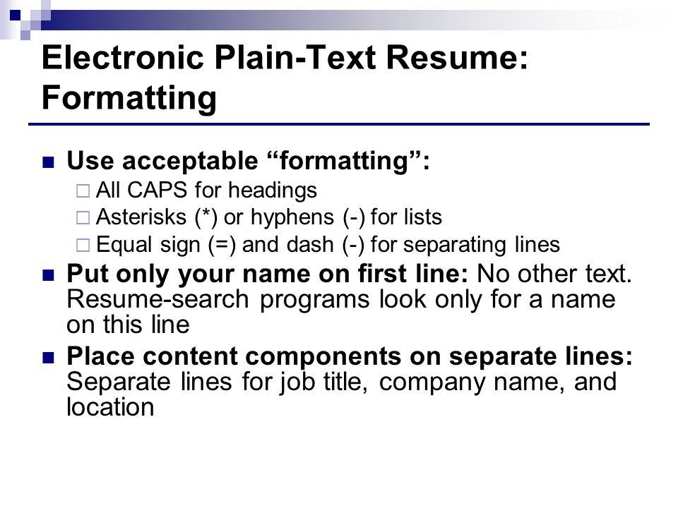 plain text resumes snapwit co