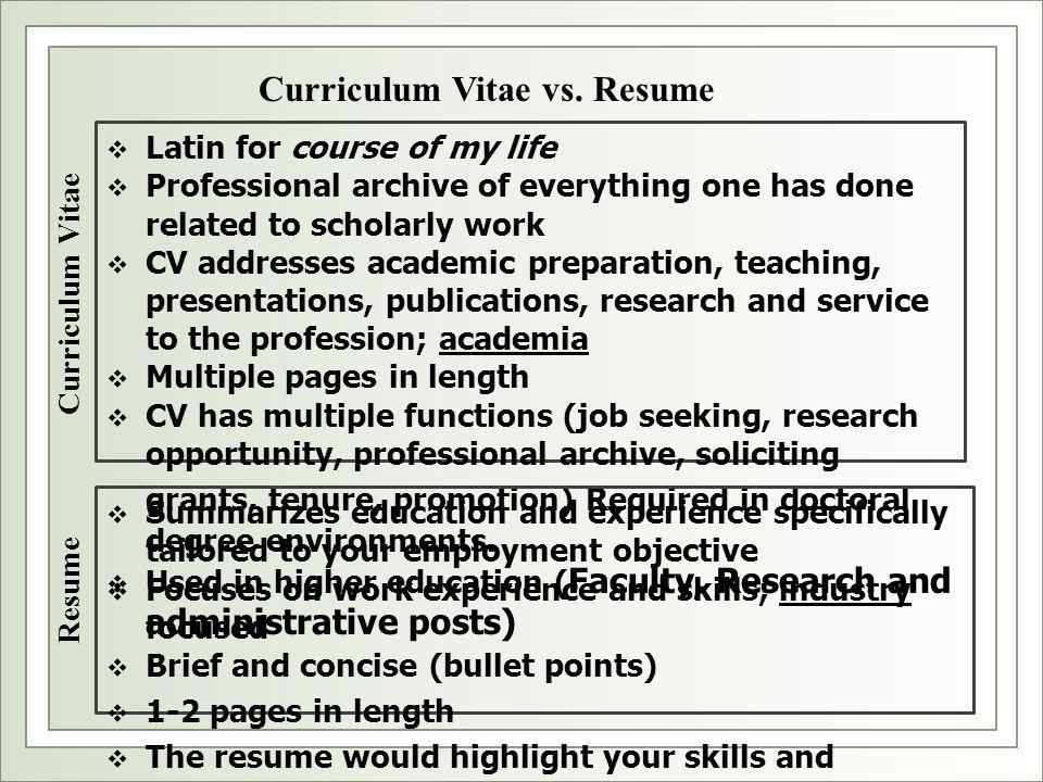 resume or vita