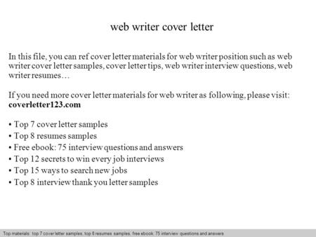 Writing A Cover Letter Tips And Instructions - Ppt Video ...