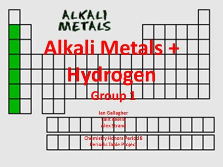 KS4 Chemistry Alkali Metals - ppt video online download - new periodic table for alkali metals