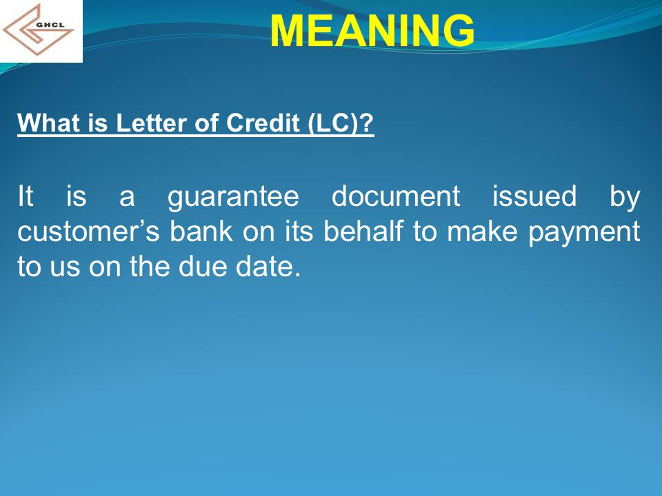 Use Of Drafts With Export Letter Of Credit By Rajendra Bavishi Finance Department Ghcl Ahmedabad