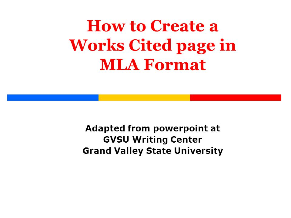 How to format mla works cited Essay Service
