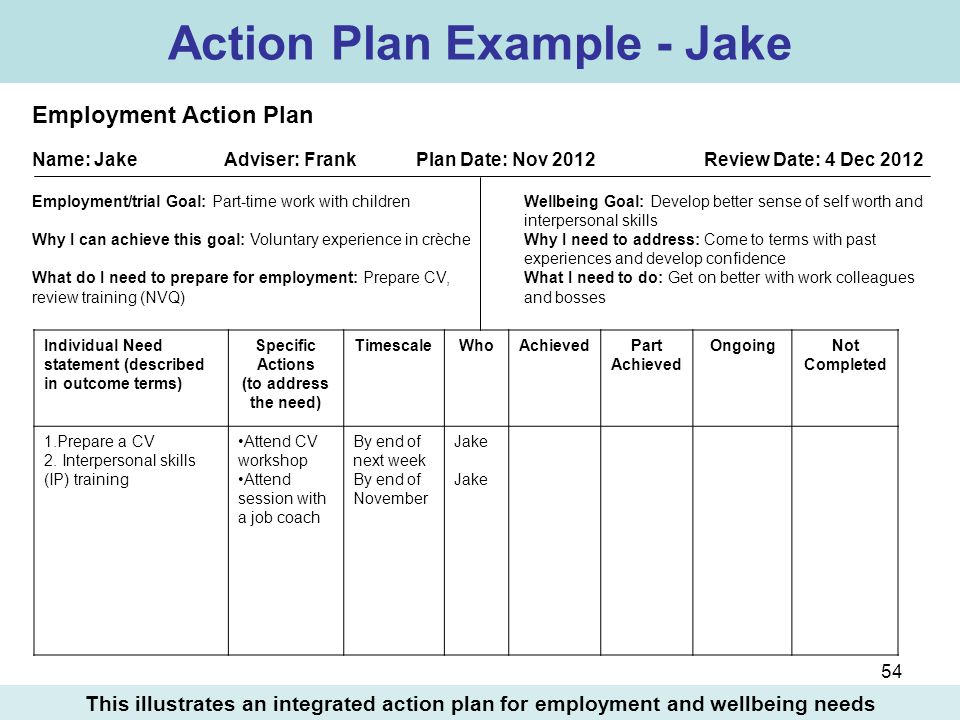 Dorable Individual Action Plan Template Ornament - Example Resume - individual action plan template