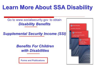 Social Security Administration Disability Benefits at Age ppt download