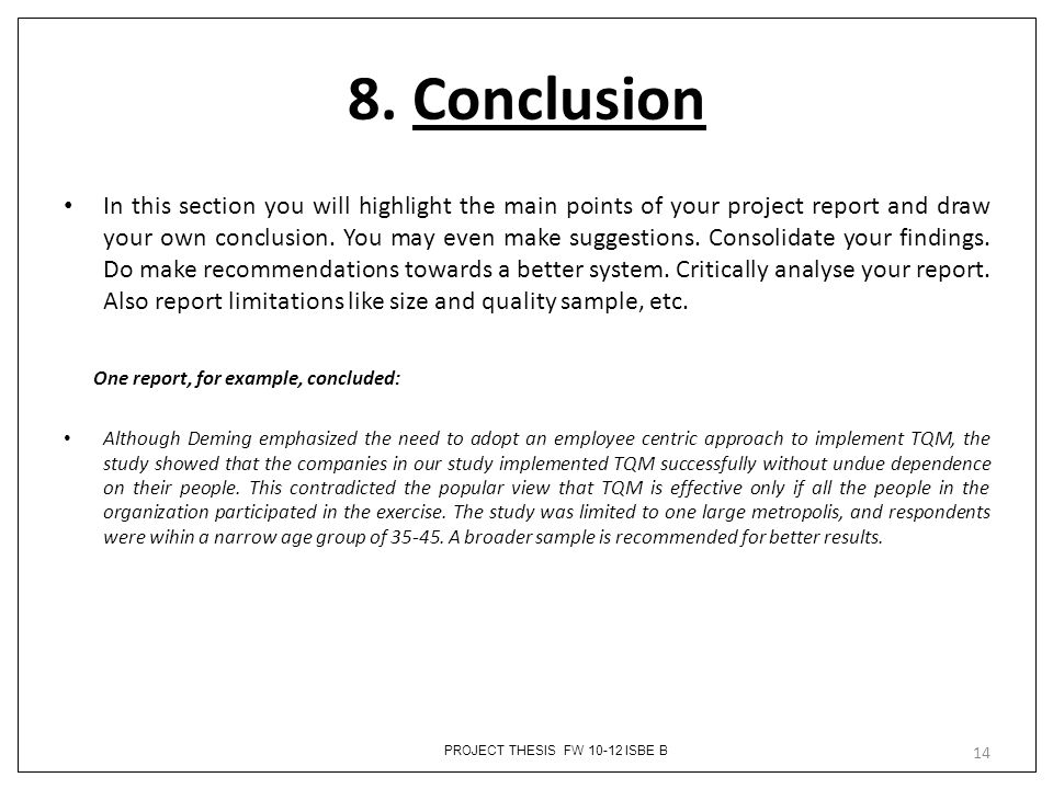 How To Write Project Report Conclusion - How to Write a Conclusion