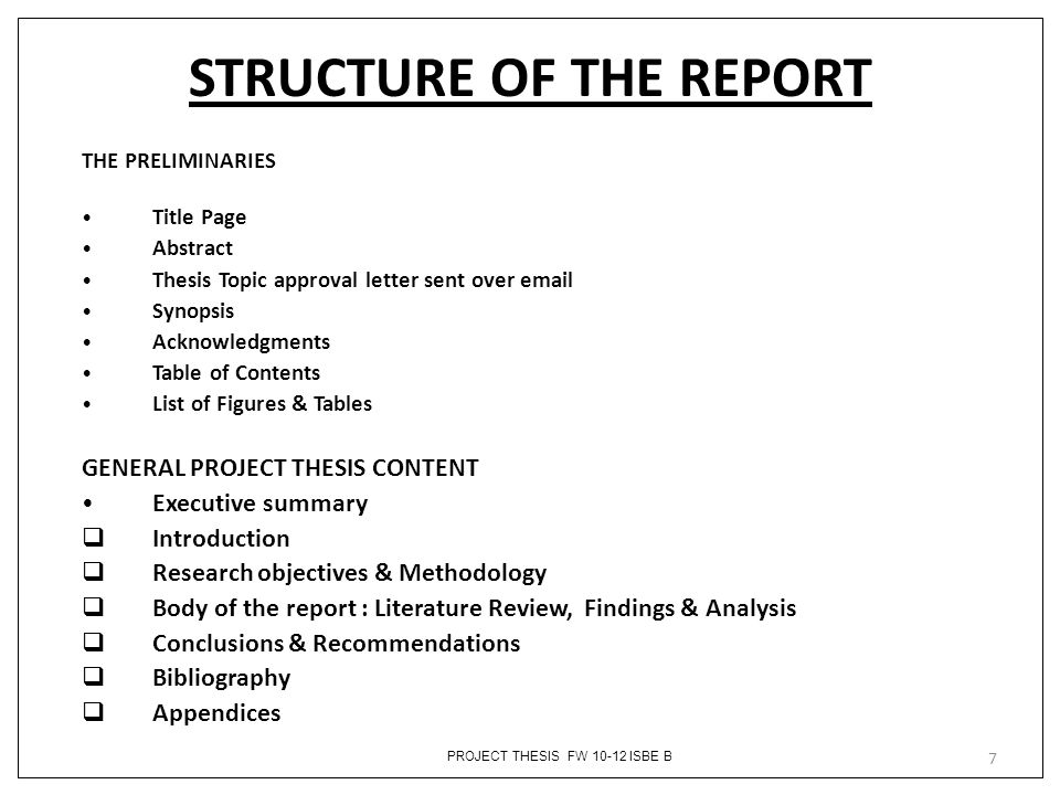 executive summary format for project report – Report Executive Summary Example