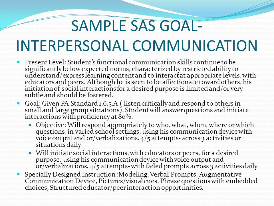Interpersonal Examples Ophion