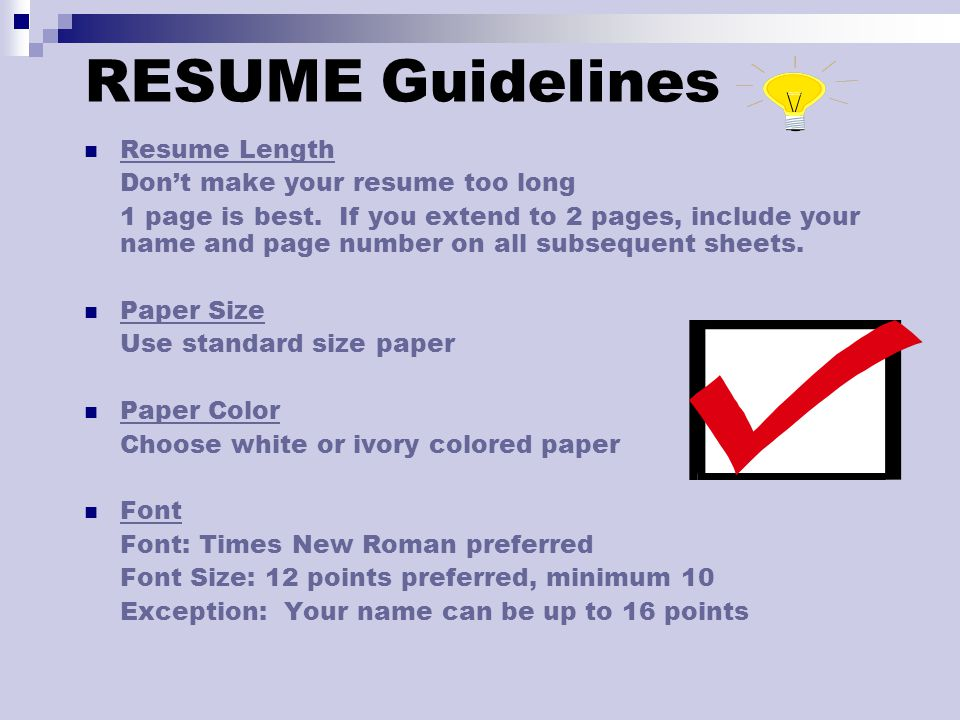 How to Write an Effective CV\/Resume - ppt download - resume paper size