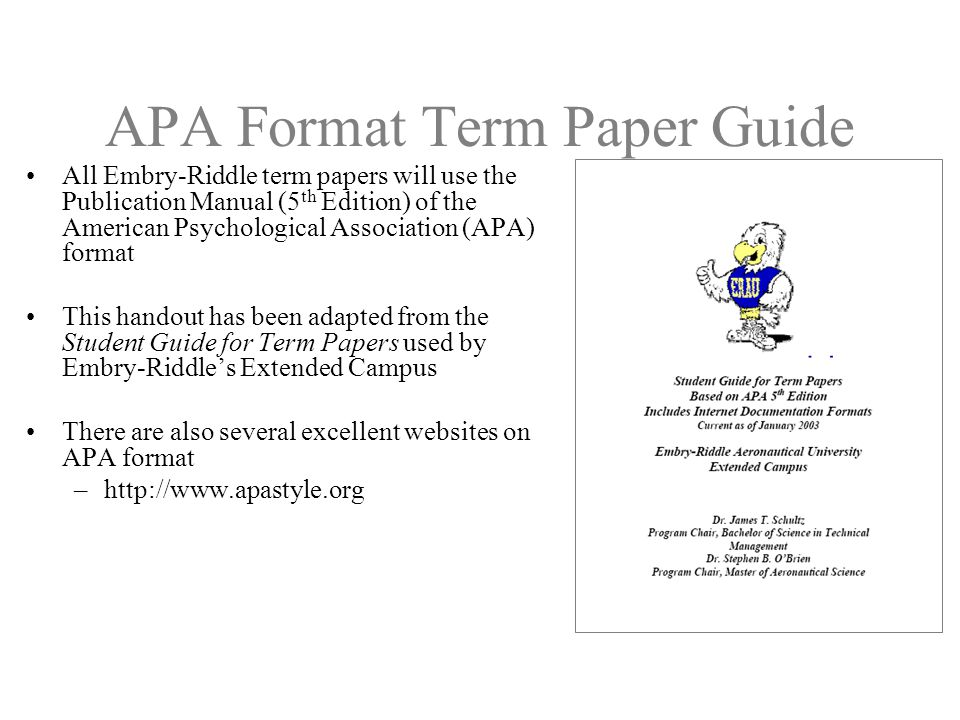 Term paper guide - Guide to the world of term papers