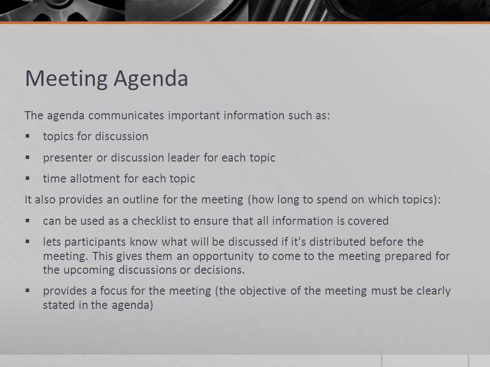 How to Create a Meeting Agenda - ppt video online download - how to create a agenda