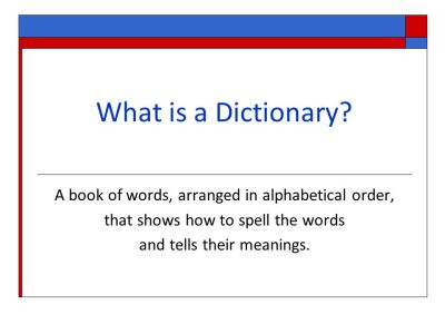 Dictionary Skills Grade 3 Lesson 1 - ppt video online download