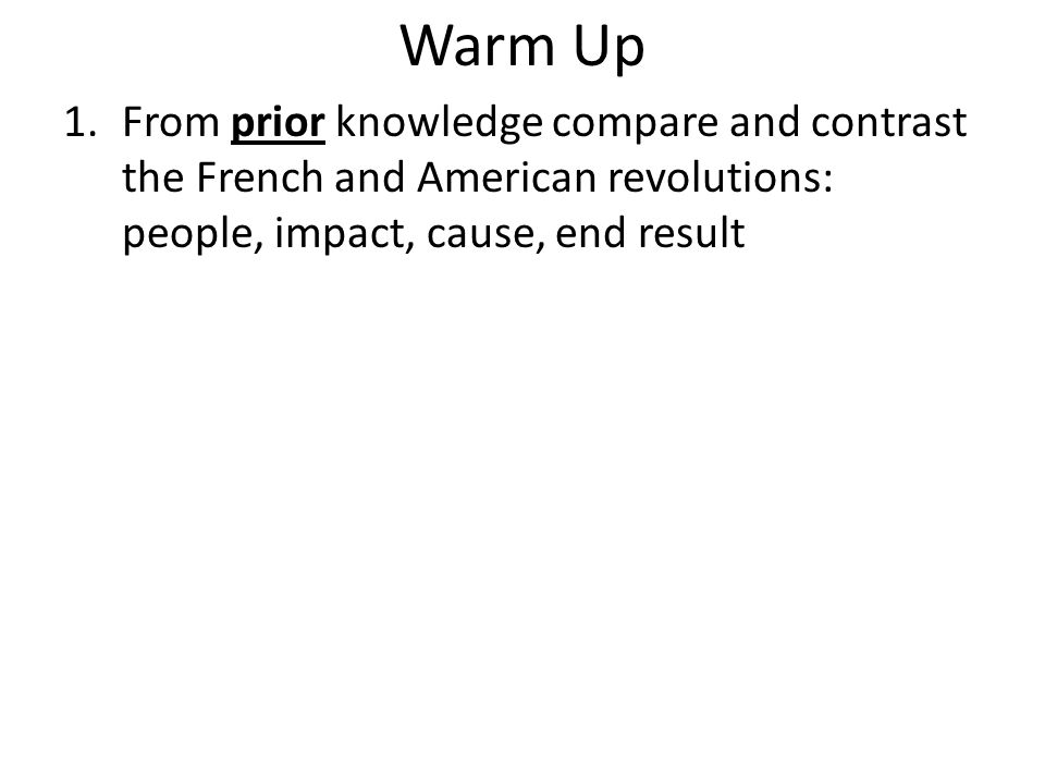 Compare contrast essay american french revolution Custom paper