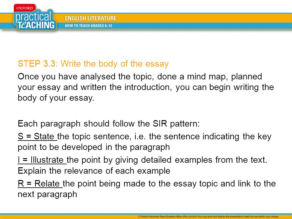Three Step Essay Introduction