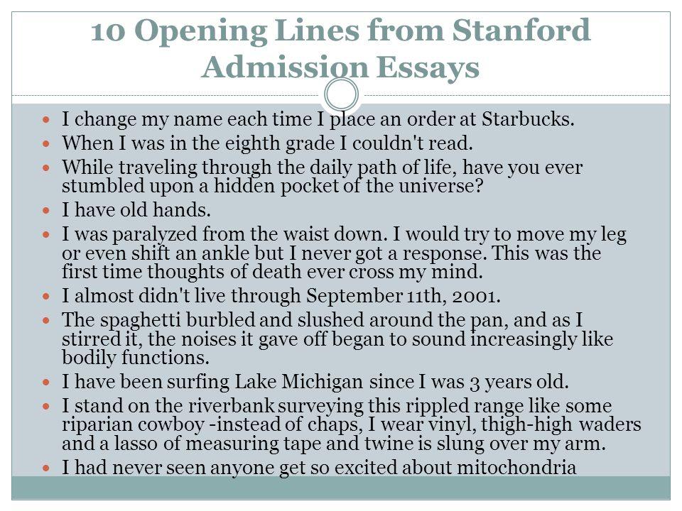 Stanford Application Essay Prompt