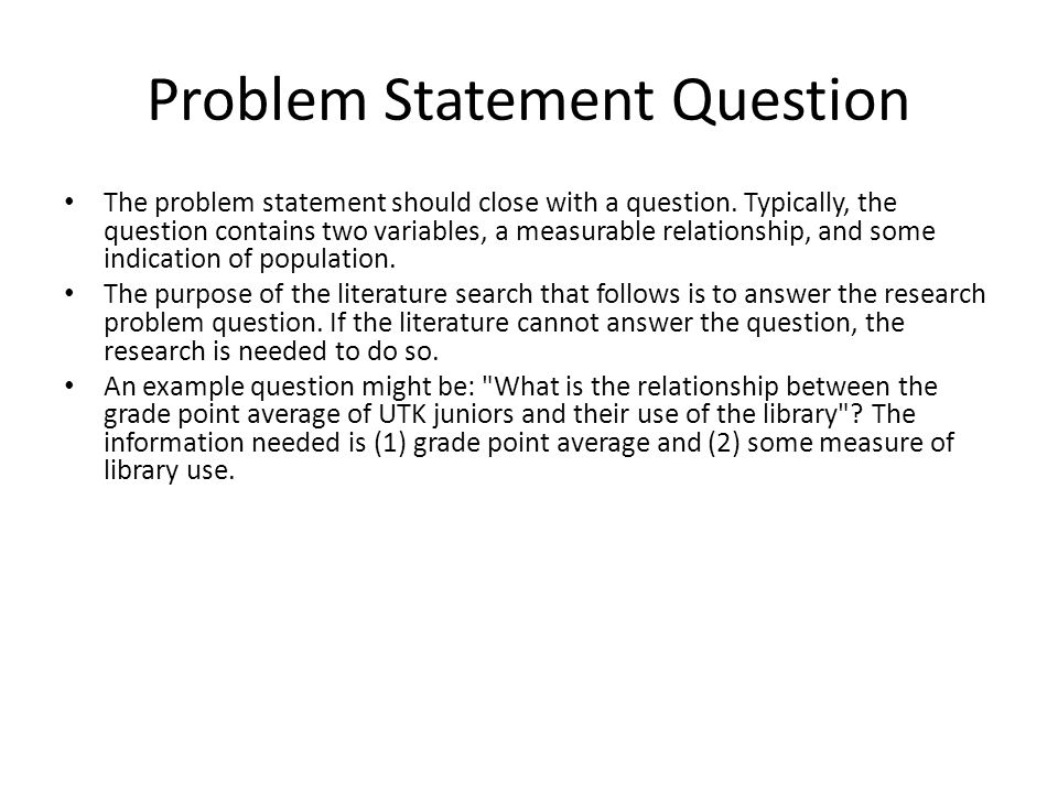 Problem Statement Example In Research Paper - problem statement example