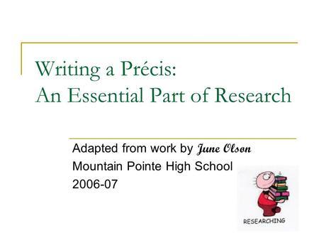 Essay and precis writing - rhetorical precis template