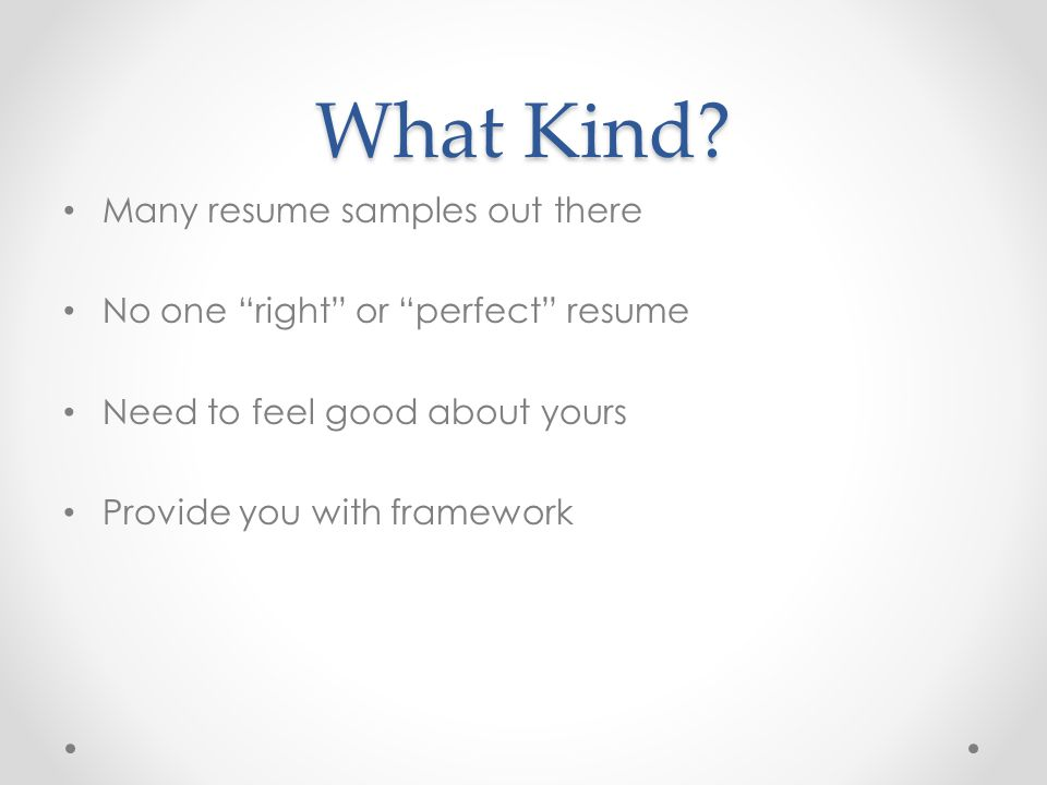 how to type out a resumes