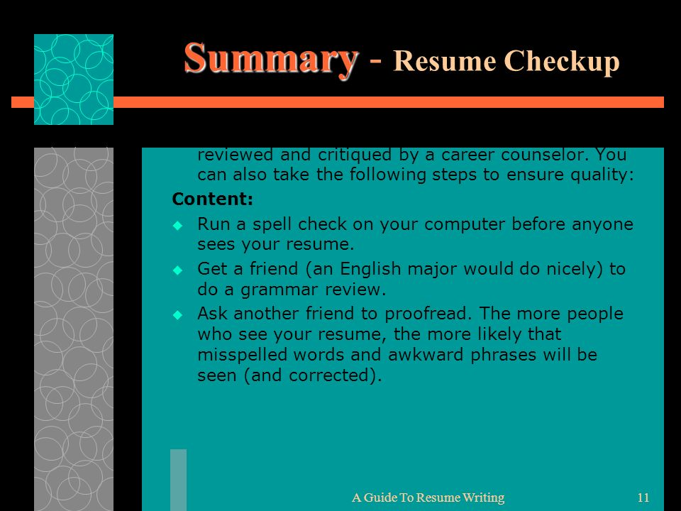 spell check resume resume ideas