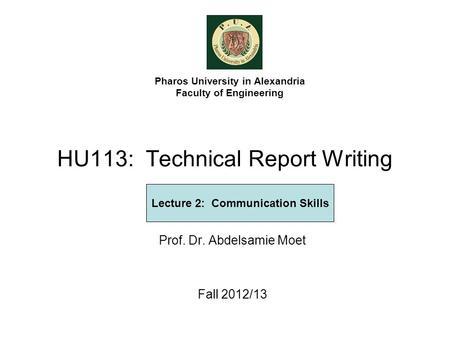 Effective Report Writing Skills Ppt - Effective Writing skills