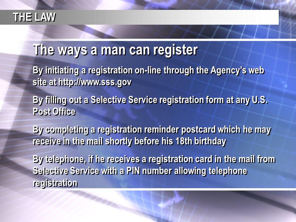 A Teacher\u0027s Guide THE SELECTIVE SERVICE SYSTEM - ppt download - selective service registration form