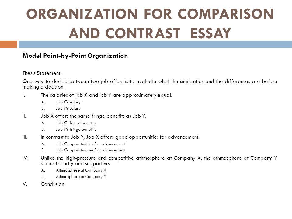 Write Good Comparison Contrast Essay