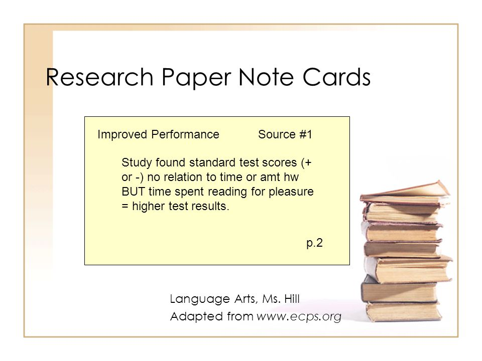 Note Cards Research Paper Mla Example