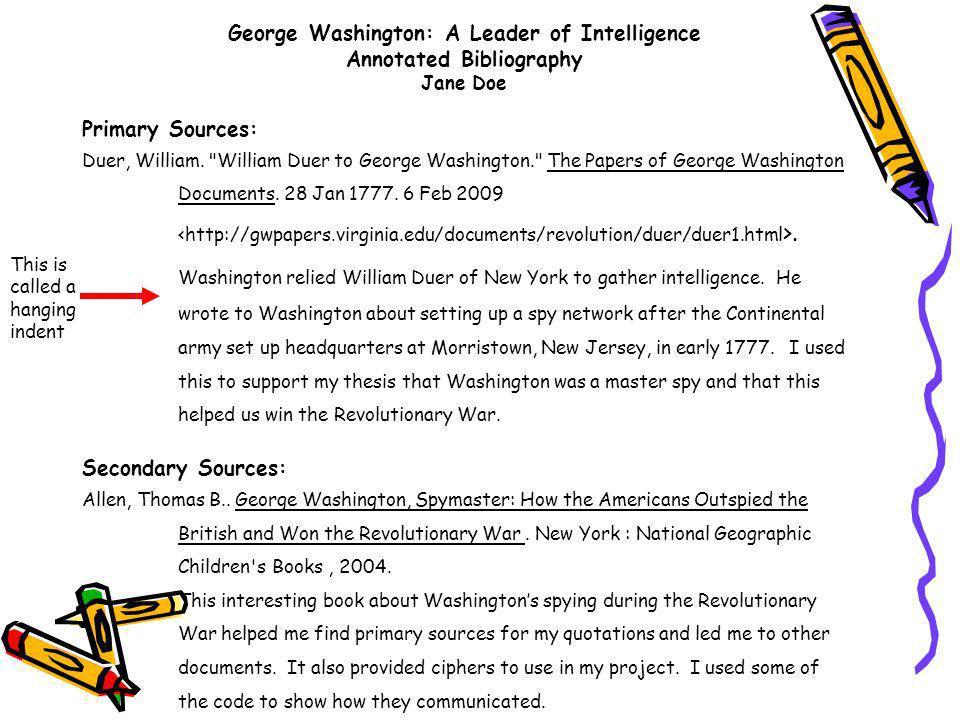 george washington resume example