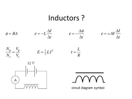 Circuit Diagram Inductor Wiring Diagram