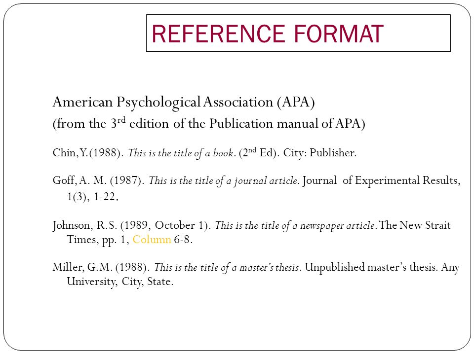 apa format for title page
