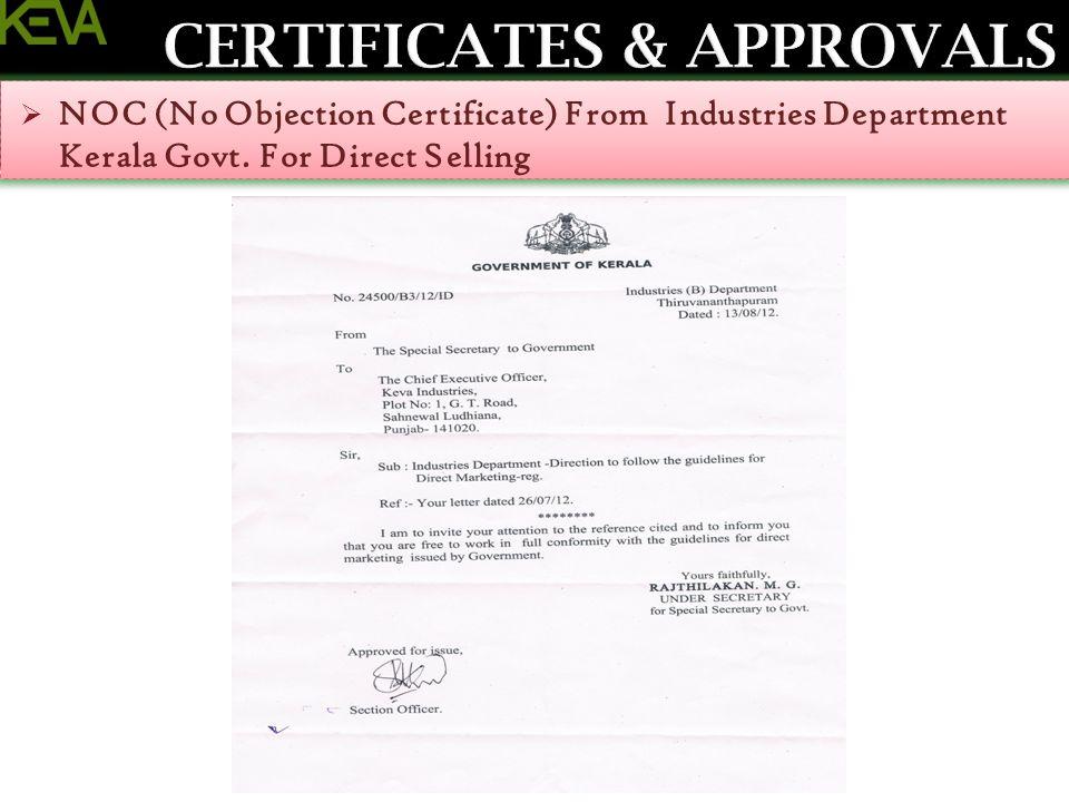 Noc No Objection Certificate Samplescsatco