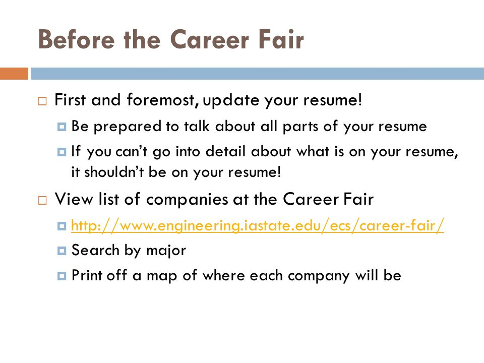 What to do if you get an interview - ppt download - resume for career fair