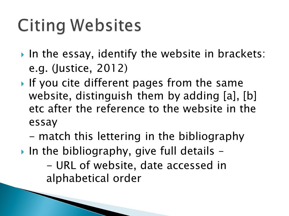 How To Cite A Website oakandale