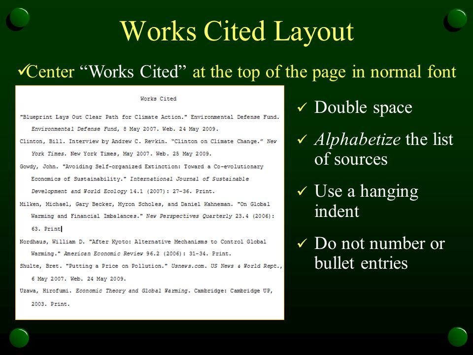 work cited layout - Hacisaecsa - work cited layout