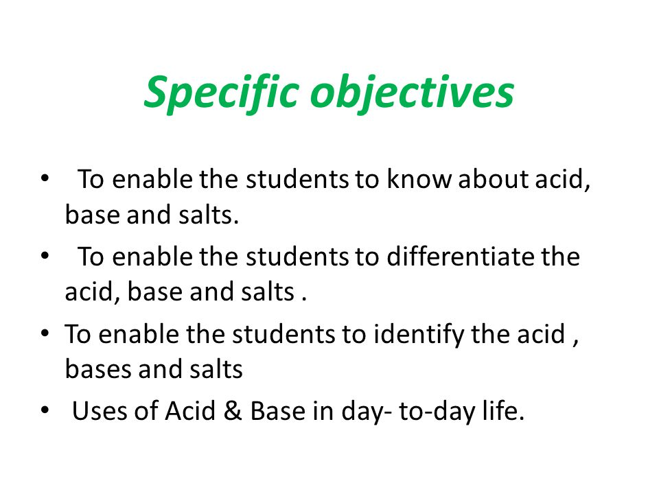 LESSON PLAN TOPIC - ACIDS, BASES AND SALTS CLASS - 10TH - ppt