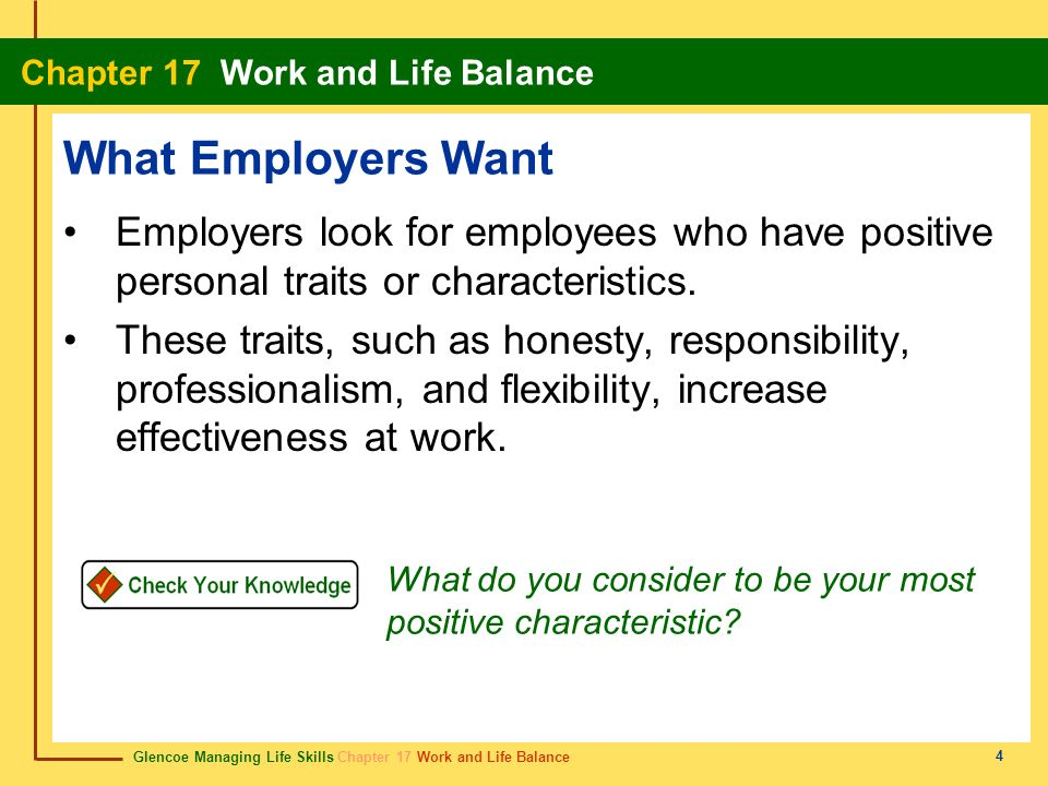 17 Chapter 17 Section 171 Success in the Workplace Section ppt - what skills and qualities do employers look for