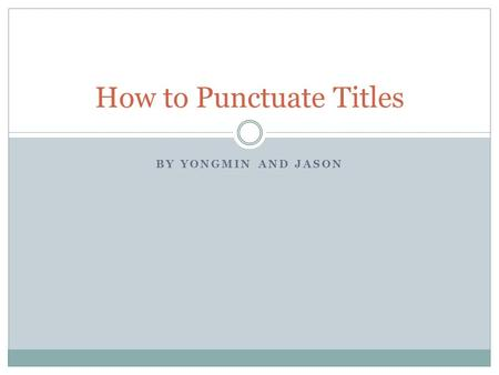Punctuation of book titles in essay Term paper Academic Writing