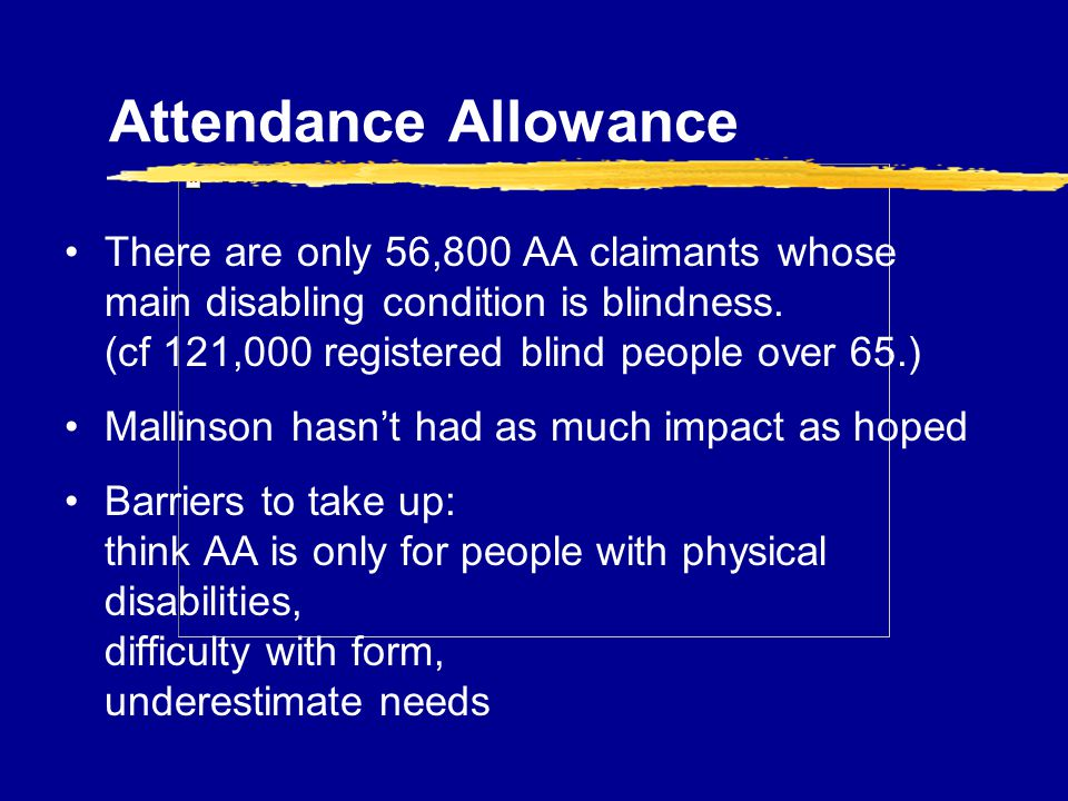 RNIB Welfare Rights Services what we do - ppt download - attendance allowance form