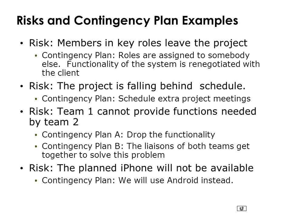 contingency plan examples – Contingency Plan Examples