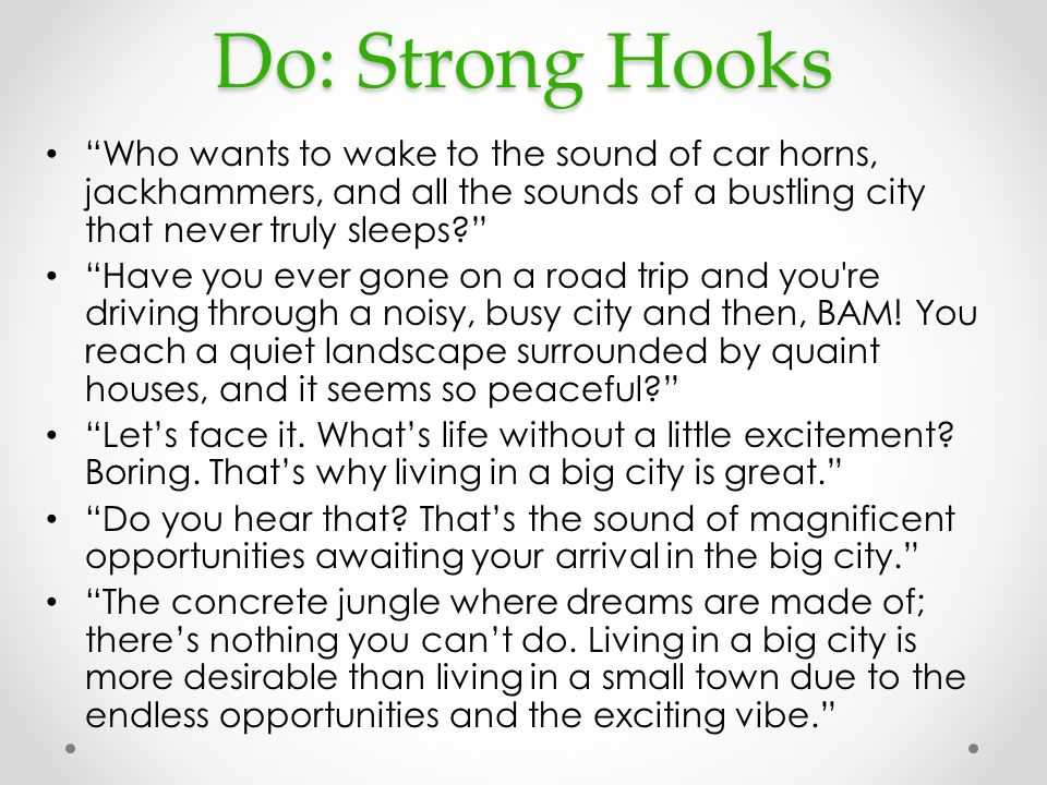 Examples of writing hooks for essays \u2013 College Students Essay