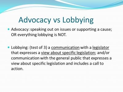 Advocacy Active support of an idea or cause, especially the act of pleading or arguing for ...