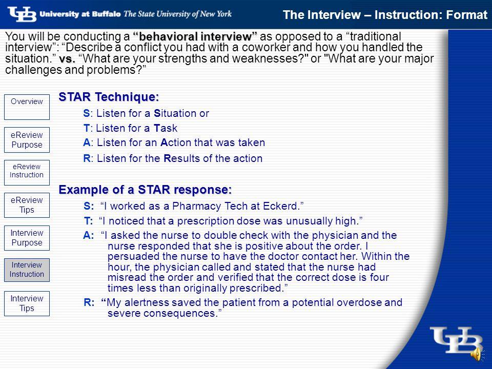 interview star format - Apmayssconstruction