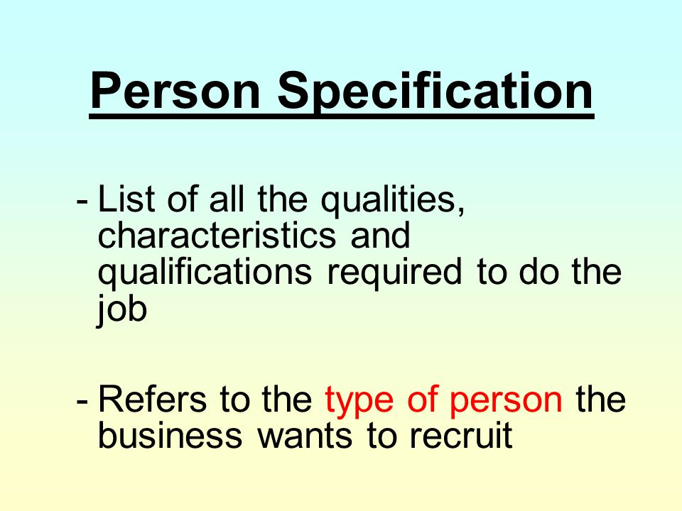 People in Organisations - ppt video online download - job qualifications list