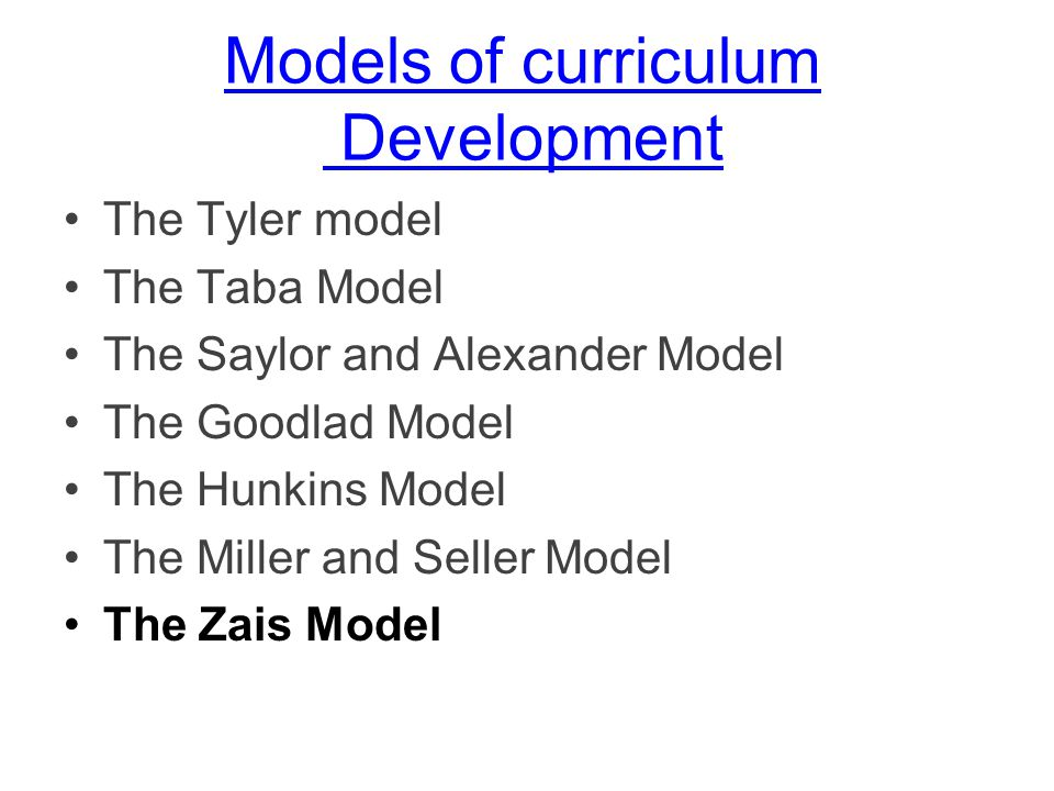 Curriculum Development Models kicksneakers