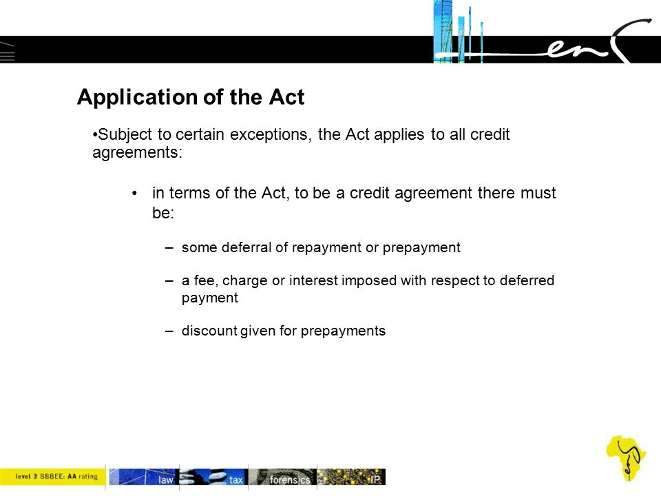 Credit Agreements fractional ownership a legal perspective voasa - credit agreement