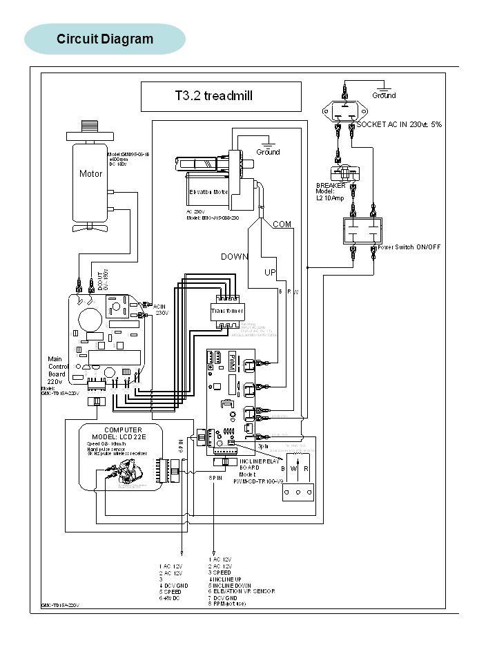 treadmill circuit board wiring diagram