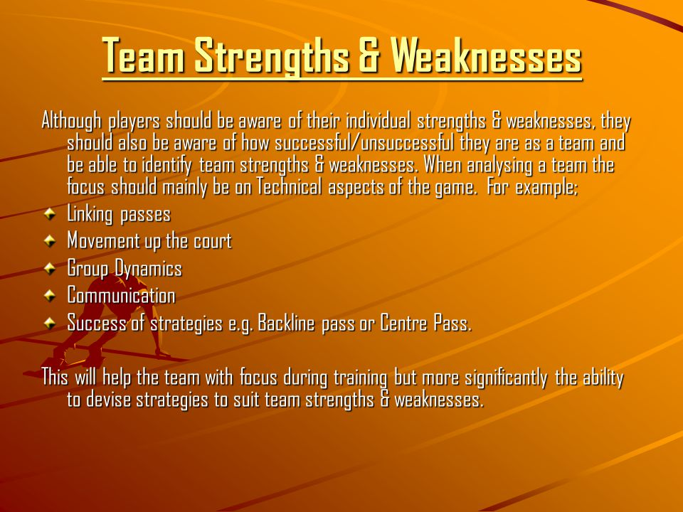 My strengths and weakness in netball Term paper Help